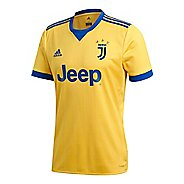 Mens adidas Juventus Away Replica Jersey Short Sleeve Technical Tops - Bold Gold/Royal XL