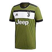 Mens adidas Juventus Replica Third Jersey Short Sleeve Technical Tops - Craft Green/Black S