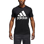 Mens Adidas Logo T-Shirt Short Sleeve Technical Tops