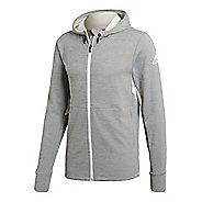 Mens adidas Climacool Textured Half-Zips & Hoodies Technical Tops - Chalk White L