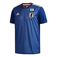 Mens adidas Japan Home Replica Jersey Short Sleeve Technical Tops - Night Blue/White XL