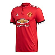 Mens adidas Manchester United Home Authentic Jersey Short Sleeve Technical Tops - ...