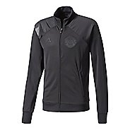 Mens adidas Manchester United Track Running Jackets - Black S
