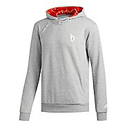 Mens adidas Never Doubt Shooter Half-Zips & Hoodies Technical Tops - Medium Grey Heather M