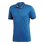 Mens adidas Pique Polo Shirt Short Sleeve Technical Tops - Noble Indigo XXL