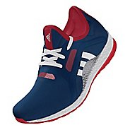 Womens adidas PureBoost X Stars and Stripes Running Shoe - Navy/Red 8