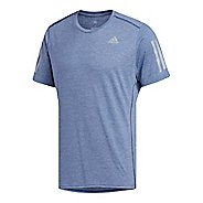 Mens adidas Response Soft T-Shirt Short Sleeve Technical Tops - Noble Indigo L