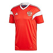 Mens adidas Russia Home Replica Jersey Short Sleeve Technical Tops - Red/White M