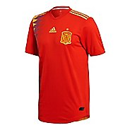 Mens adidas Spain Home Authentic Jersey Short Sleeve Technical Tops