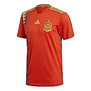 Mens adidas Spain Home Replica Jersey Short Sleeve Technical Tops