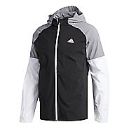 Mens adidas Sport ID Jacket Half-Zips & Hoodies Technical Tops - Black XXL