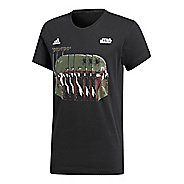 Mens adidas Star Wars Boba Fett T-Shirt Short Sleeve Technical Tops - Black XL