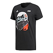 Mens adidas Star Wars Storm Trooper T-Shirt Short Sleeve Technical Tops - Black S