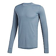 Mens adidas Supernova T-Shirt Long Sleeve Technical Tops - Steel M