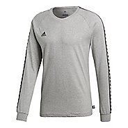 Mens adidas Tango Etrusco T-Shirt Long Sleeve Technical Tops - Medium Grey Heather S