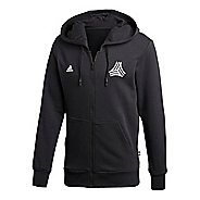 Mens adidas Tango Half-Zips & Hoodies Technical Tops - Black XXL
