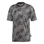 Mens adidas Tango Jersey Short Sleeve Technical Tops - Carbon XXL