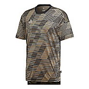 Mens adidas Tango Jersey Short Sleeve Technical Tops - Raw Gold L