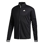 Mens adidas Team Issue Lite Bomber Casual Jackets - Black/Black/Black M