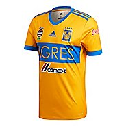 Mens adidas Tigres UANL Home Replica Jersey Short Sleeve Technical Tops - Gold/Satellite L