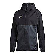 Mens adidas Tiro 17 Rain Jackets - Black/Grey/White S