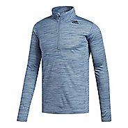 Mens adidas Ultimate Tech 1/4 Zip Pullover Half-Zips & Hoodies Technical Tops - Steel M