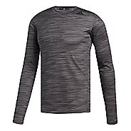 Mens adidas Ultimate Tech T-Shirt Long Sleeve Technical Tops - Carbon L