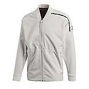 Mens adidas Z.N.E. Reversible Bomber Casual Jackets Technical Tops - Chalk Pearl L