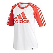 Womens adidas Badge of Sport Baseball T-Shirt Short Sleeve Technical Tops - White XS