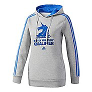 Womens adidas Boston Marathon Qualifier Half-Zips & Hoodies Technical Tops - Medium Grey Heather XS