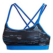 Womens adidas Crossback Stripe Hack Sports Bras - Black/Black S
