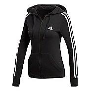 Womens adidas Essentials 3-Stripes Half-Zips & Hoodies Technical Tops - Black/White M