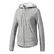 Womens adidas S2S Half-Zips & Hoodies Technical Tops - Medium Grey Heather L