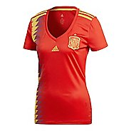 Womens adidas Spain Home Replica Jersey Short Sleeve Technical Tops - Red/Bold Gold M