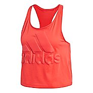 Womens adidas Sport ID Crop Sleeveless & Tank Technical Tops - Real Coral XL