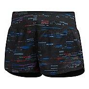 Womens adidas Supernova Glide Graphic Lined Shorts - Black L