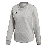 Womens adidas Tango Jersey Long Sleeve Technical Tops - Medium Grey Heather L