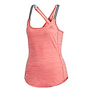 Womens adidas Performer 3-Stripes Sleeveless & Tank Technical Tops - Medium Grey Heather L