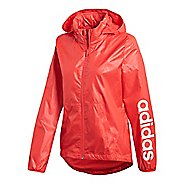 Womens adidas Linear Windbreaker Running Jackets - Real Coral S