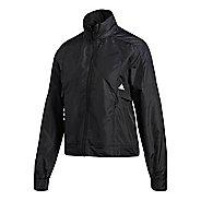 Womens adidas ID Windbreaker Running Jackets - Black/White M