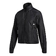Womens adidas ID Windbreaker Running Jackets - Black/White XL
