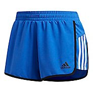 Womens adidas Ultimate Knit Unlined Shorts - Hi-Res Blue/White XL