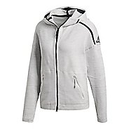 Womens adidas Z.N.E. Primeknit Half-Zips & Hoodies Technical Tops