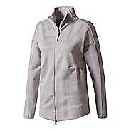 Womens adidas Z.N.E. Pulse Cover-up Casual Jackets - Grey L