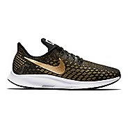 Womens Nike Air Zoom Pegasus 35 Metallic Running Shoe - Black/Gold 7