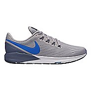 Mens Nike Air Zoom Structure 22 Running Shoe - Grey/Blue 14