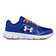 Kids Under Armour Rave 2 Running Shoe - Black/White/Silver 7Y