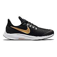 Kids Nike Air Zoom Pegasus 35 Shine Running Shoe - Black/Metallic 1Y