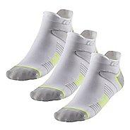 R-Gear Super Performance Thin No Show Tab 3 pack Socks - White/Yellow/Micro L