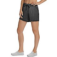 Womens Champion Heathered Jersey Unlined Shorts
